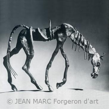 Rossinante, le cheval de Don Quichotte de la Mancha forgé par JEAN MARC dans les années 1960